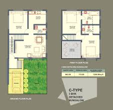 bungalow row house plans house scheme