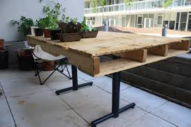 Patio Furniture Pallets by The Sustainabilitree Wooden Pallet Table Or Diy Student Furniture