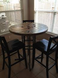 reclaimed wood pub table sets stylish round bistro table and chairs 25 best ideas about for wooden