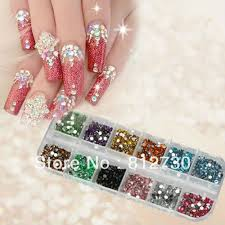 1200pcs coloured rhinestones glamorous nail supplies
