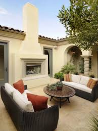 indoor outdoor fireplace and patio area detail yoder loversiq