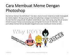 Cara Membuat Meme - kursus photoshop cara membuat meme dengan photoshop