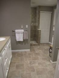 Gray Bathroom Floor Tile Wide Plank Tile For Bathroom Great Grey Color Great Option If