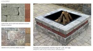 Square Fire Pit Kit by Unilock Brussels Fire Pit Kit Available In Limestone With Heritage