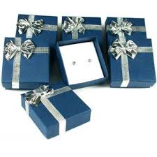 gift wrap box 6 earring boxes bowtie gift wrap jewelry displays