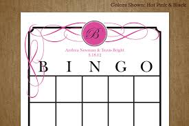 bridal shower gift bingo card bridal shower bingo card template