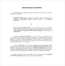 business memo format sample 12 memorandum of agreement templates u2013 free sample example