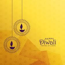premium diwali greeting card design with diya decoration vector