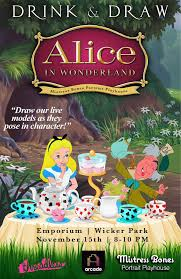 drink draw draw alice wonderland chicago emporium