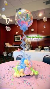 mermaid baby shower decorations balloon centerpiece mermaid theme party balloon decor in