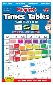 Times Tables 1 12 Times Tables Magnetic Activity Chart Amazon Co Uk Toys U0026 Games