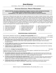 sourcing manager resume the letter sample