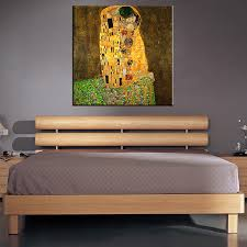 original home decor original famous paint the kiss by gustav klimt wall painting for