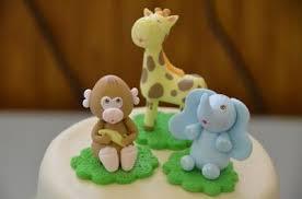 animals twin baby shower cake