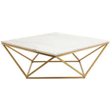 Triangular Coffee Table Triangle Motif Marble Top Coffee Table