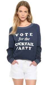 wildfox cocktail party cropped sweatshirt shopbop