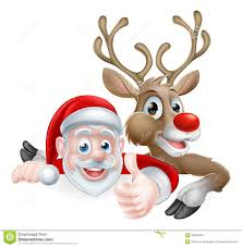santa and reindeer santa and reindeer sign stock vector illustration of clipart 56845353