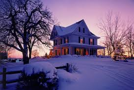 wisconsin house winter winter trees wisconsin christmas victorian house snow