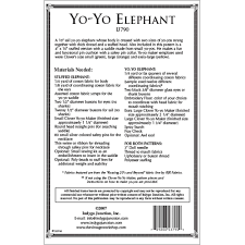 yo yo elephant stuffed animal sewing pattern by indygo junction