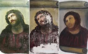 Jesus Fresco Meme - meme watch once you see the restored face of jesus you cannot