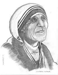 pencil sketch of mother teressa desipainters com