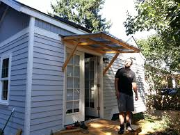 exterior design attractive small wood awning for small homes