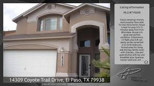 Classic American Homes Floor Plans 14309 Coyote Trail Drive El Paso Tx 79938 Youtube