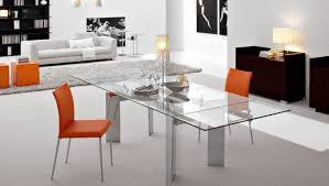 Dining Room Glass Table Decor Centerpieces Del - Contemporary glass dining room tables