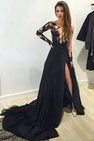 formal dresses sleeve prom dress lace prom dress black prom dress 2016