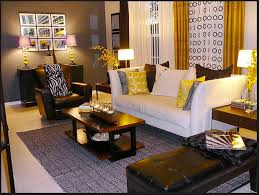 Best Yellow  Brown Living Room Images On Pinterest Living - Grey and brown living room decor ideas