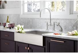 Bridge Kitchen Faucet Faucet Com K 7337 4 Bs In Brushed Stainless By Kohler