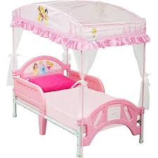 Toddler Bed With Canopy Disney Princess Toddler Bed With Canopy Walmart