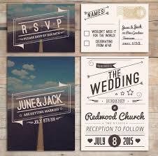sts for wedding invitations retro wedding invitation set american design rockabilly style