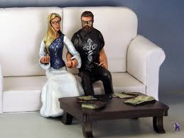 gamer cake topper tabletop rpg gamer wedding cake topper garden studios