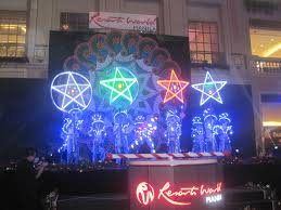 lighting up the ceremonial christmas tree and giant parol at