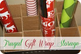 christmas wrap storage frugal wrapping paper storage system