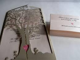 Tree Wedding Invitations Laser Creative Love Tree Custom Laser Cut Wedding Invitations