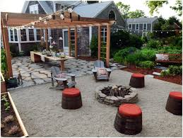 Pea Gravel Concrete Patio by Backyards Excellent The Summer Terrace 98 Pea Gravel Patio Fire