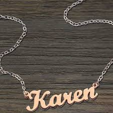 gold plated necklace with name freeshipping style name necklace gold plated copper