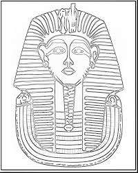 king tut coloring page tutankhamun death mask coloring page free