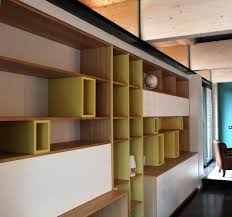 bibliothèque avec bureau intégré design d intérieur bureau integre bibliotheque un mur de rangement