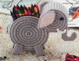free printable halloween plastic canvas patterns plastic canvas pattern elephant crayon holder really