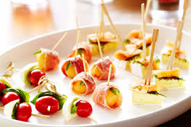food canapes canape trio