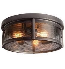 crockett fantasy of lights crockett industrial flush mount 400 perfect for a modern