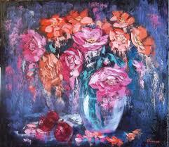 flower paintings handmade livemaster handmade oil painting abstract flowers fruit 70