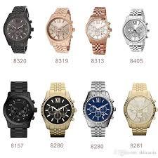 gold rose pattern 8319 lexington chronograph gold tone black dial mens watch 8280 8281 8286