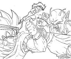 dragon ball color page cartoon characters coloring pages dot peeps