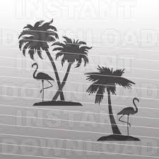 palm tree svg flamingo palm trees svg filebeach scene svg file commercial