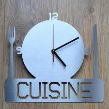 horloge murale cuisine originale pendule murale cuisine design stickoo