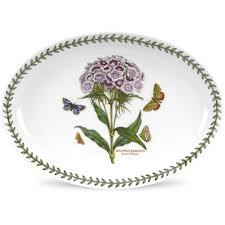 portmeirion botanic garden oval platter 28cm sweet william